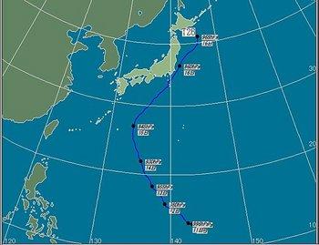 台風27号 2013 進路予想  比較